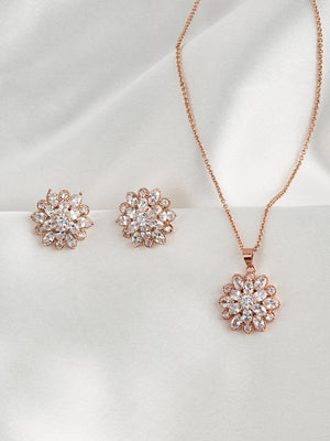 Zinnia Rose Gold Jewelry Set