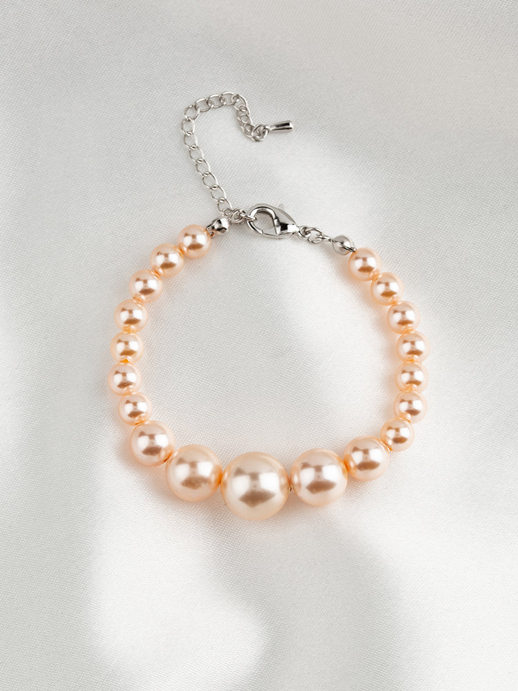 Load image into Gallery viewer, Graduated Pearl Bracelet | Pastel