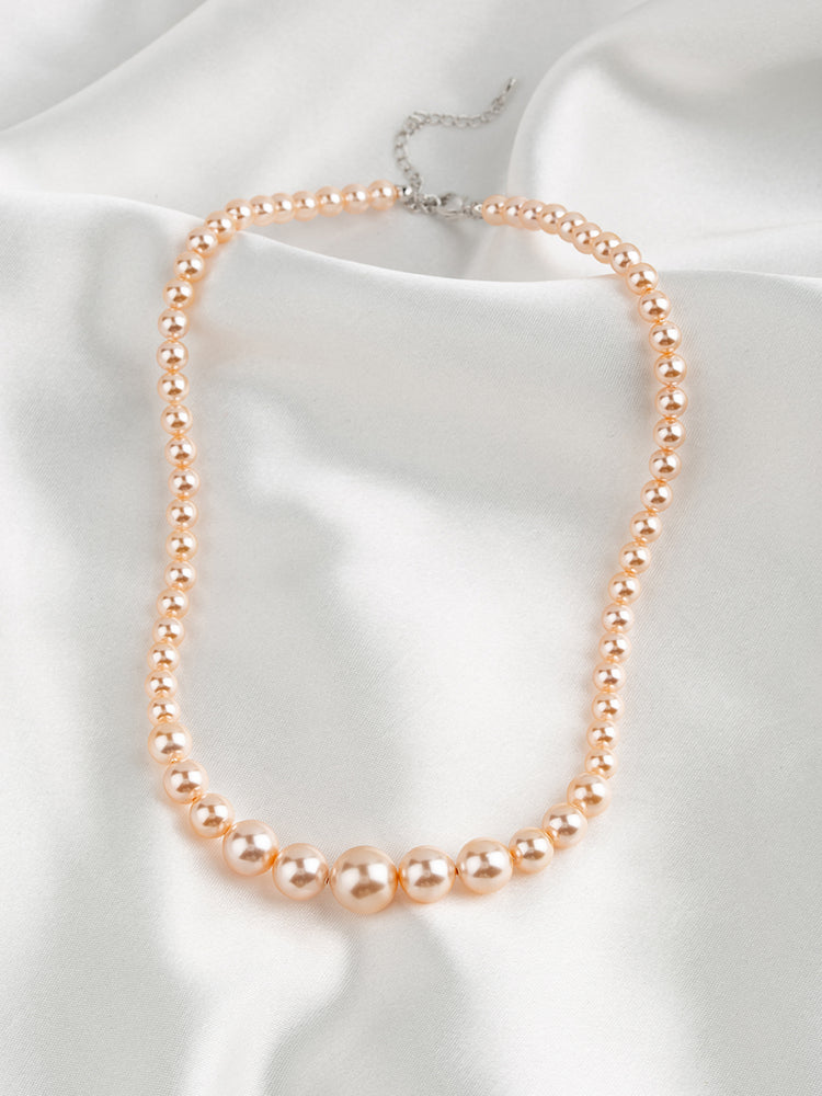 Graduated Pearl Necklace | Pastel