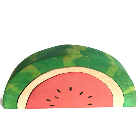 Watermelon Fruit Block Wood Toy Stacker