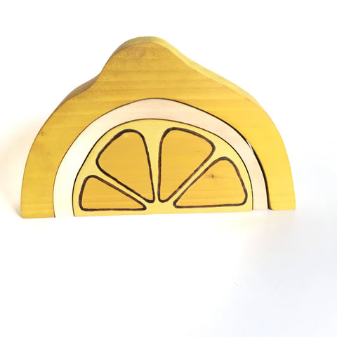 Lemon Blocks Wood Toy Stacker