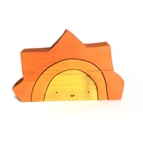 Mr. Golden Sun Wood Block Stacker