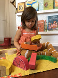 Orange Fruit Block Wood Toy Stacker