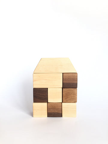 Natural Maple & Walnut Wood Block Set