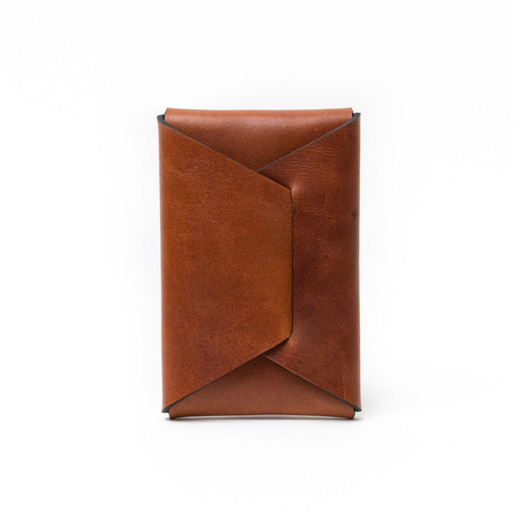 Stitchless Card Carry - Saddle Tan