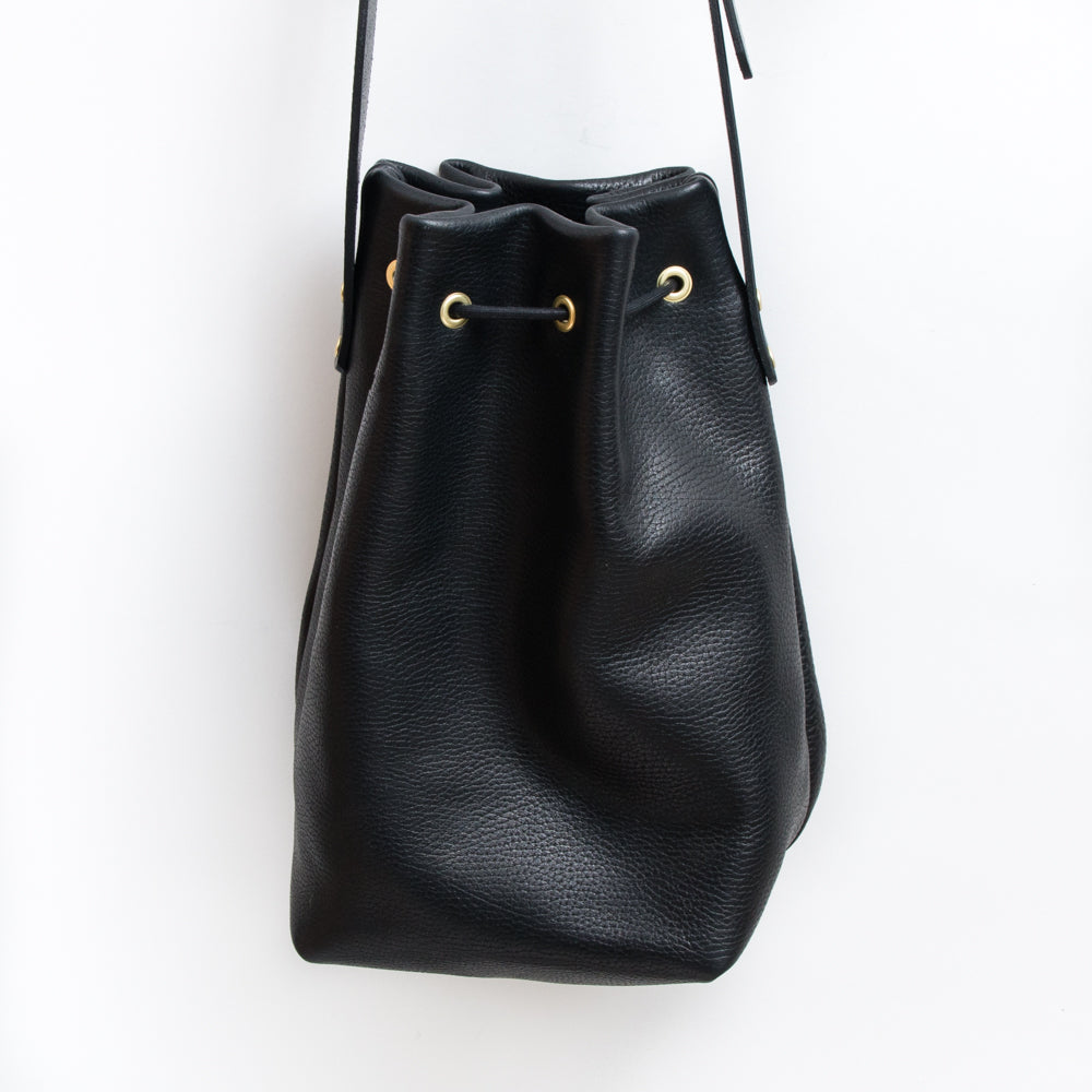 Bucket Bag - Pebbled Black