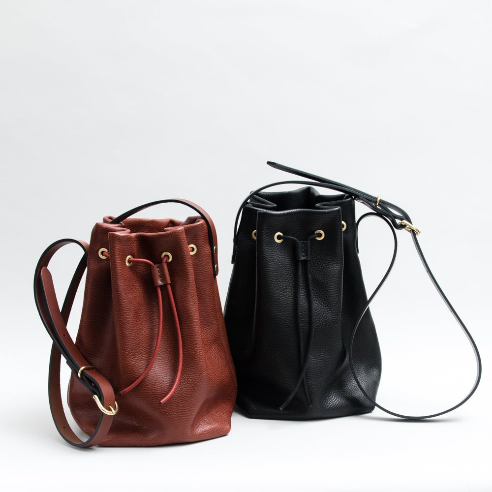 Bucket Bag - Pebbled Chestnut