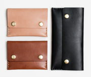 Apogee Goods leather unisex double snap wallets