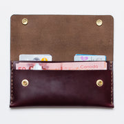 Apogee Goods burgundy leather wallet handmade in canada