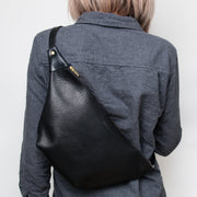 Sling Bag - Pebbled Black