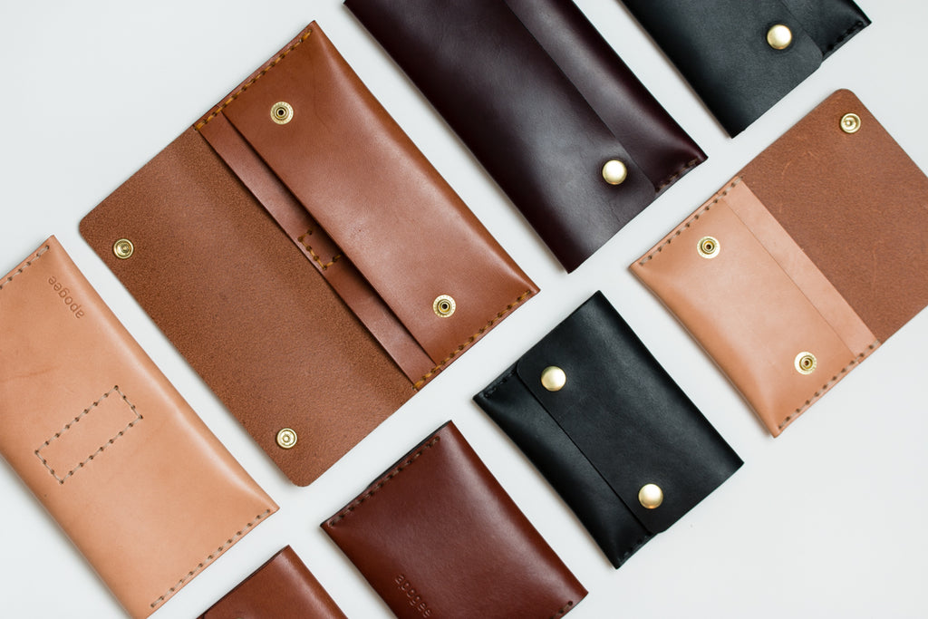 apogee goods handmade unisex leather wallets