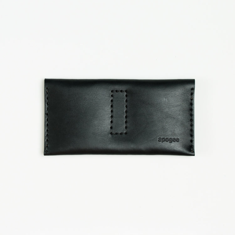 Apogee Goods long black womens wallet