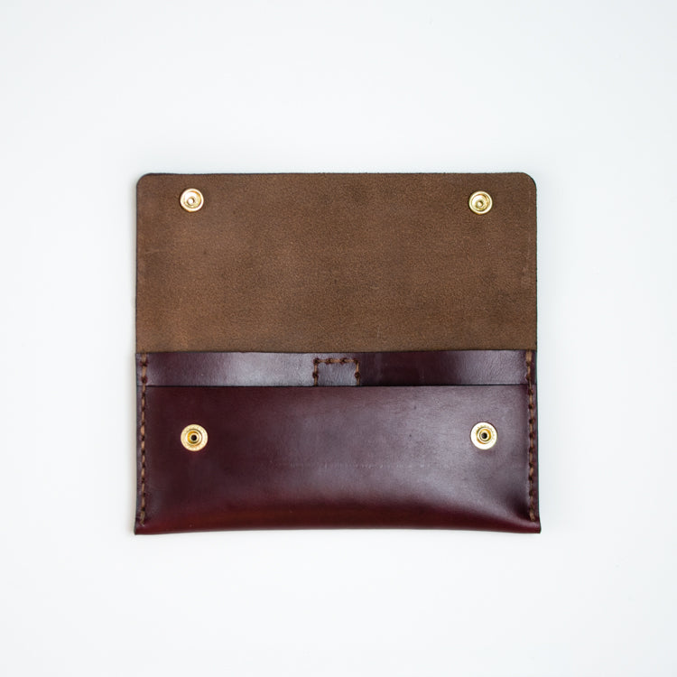 Apogee Goods leather womens wallet made with Horween leather