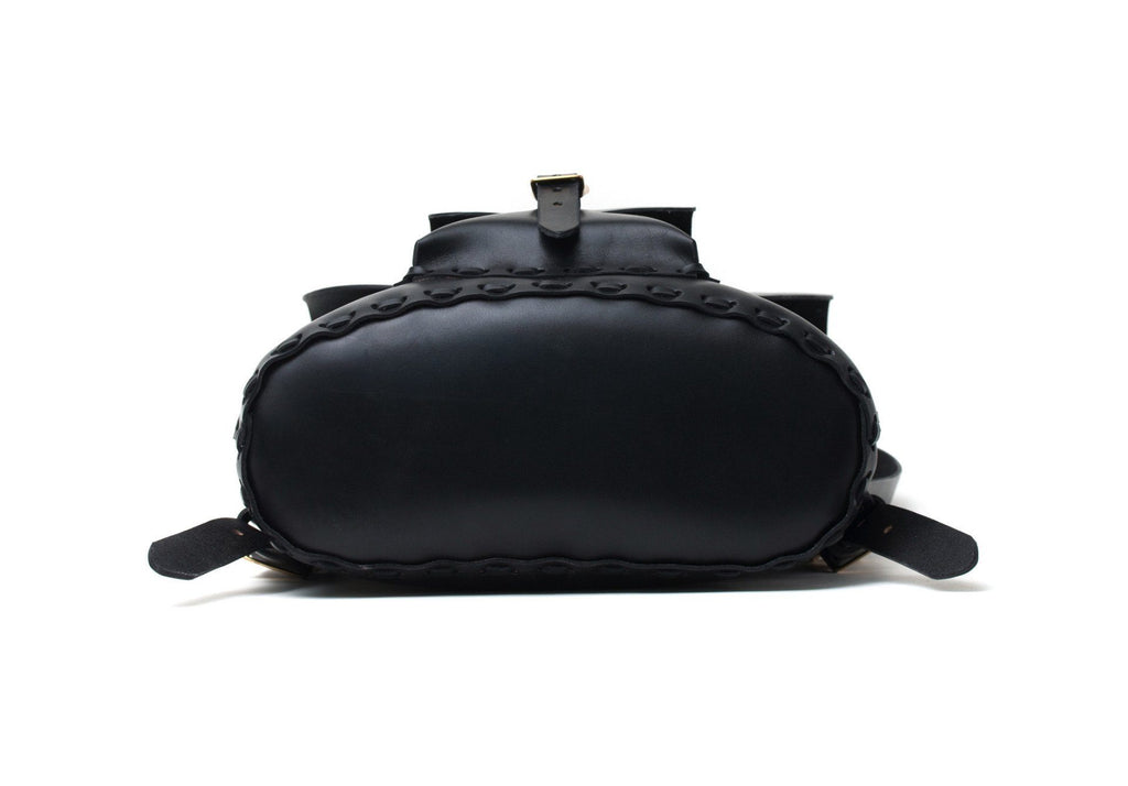 Black english bridle leather bag made in Toronto by Apogee
