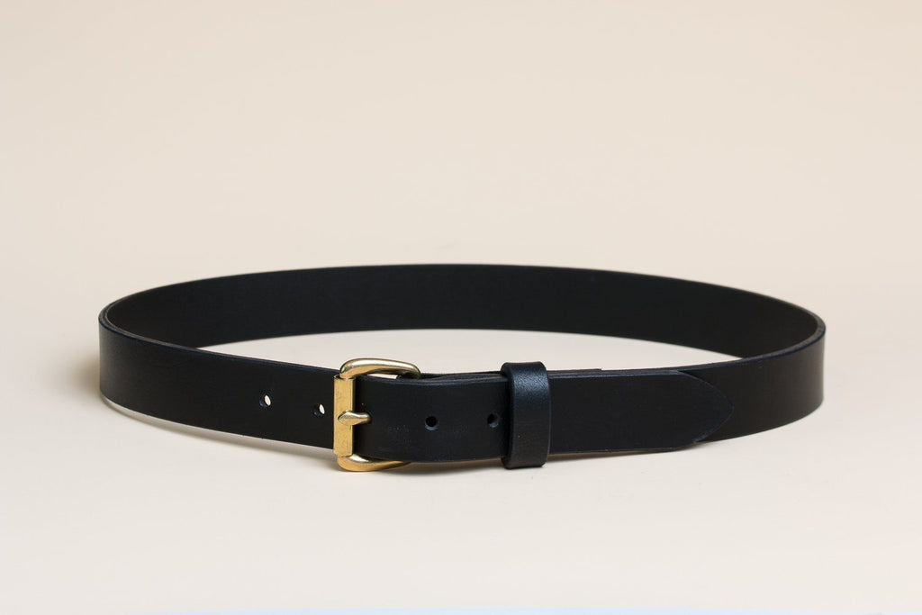 Daily Belt - Black/Brass