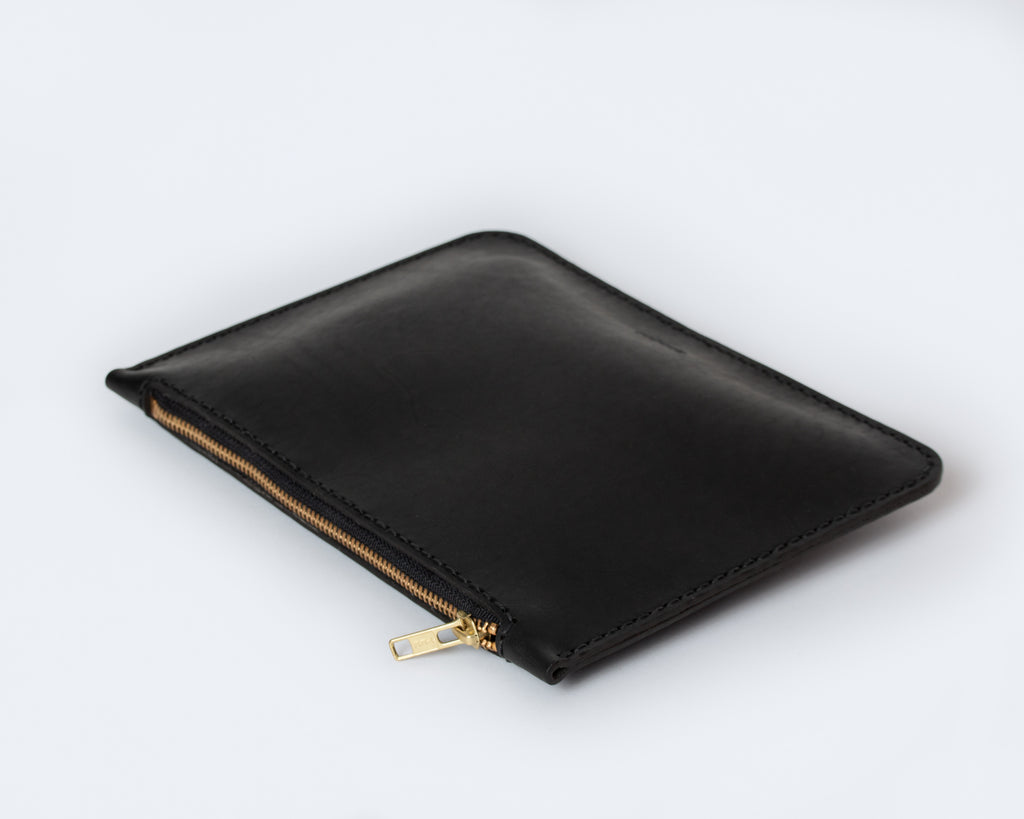 Large Zip Pouch - Black