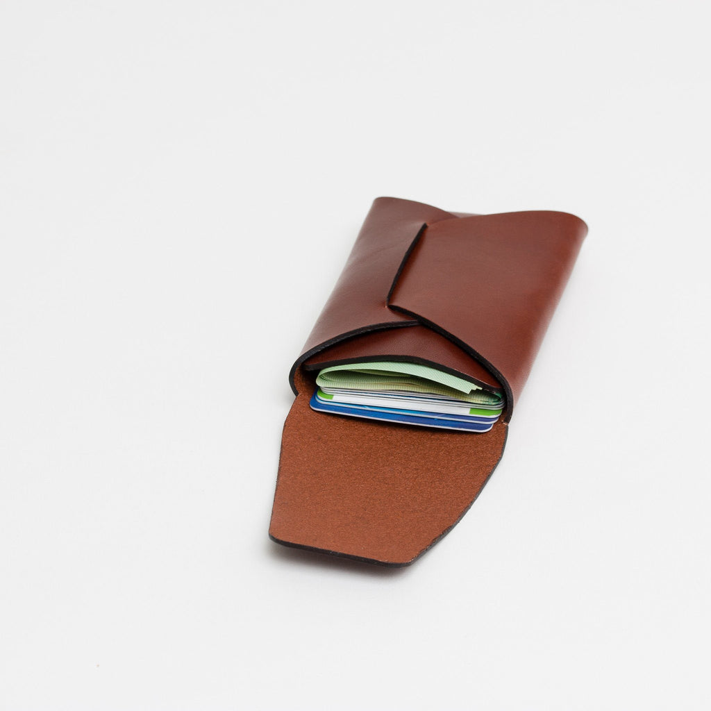 Stitchless Card Carry - Chestnut