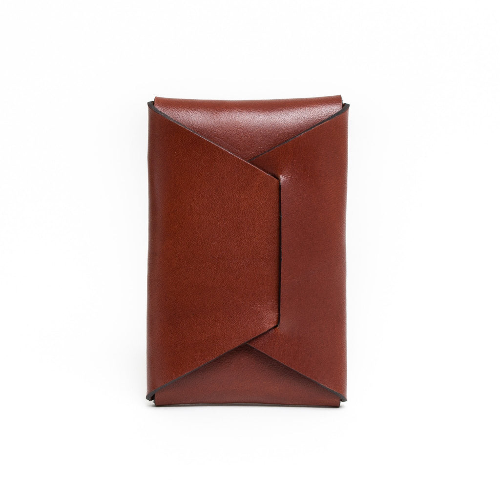 Stitchless Card Carry - Chestnut - Apogee Goods