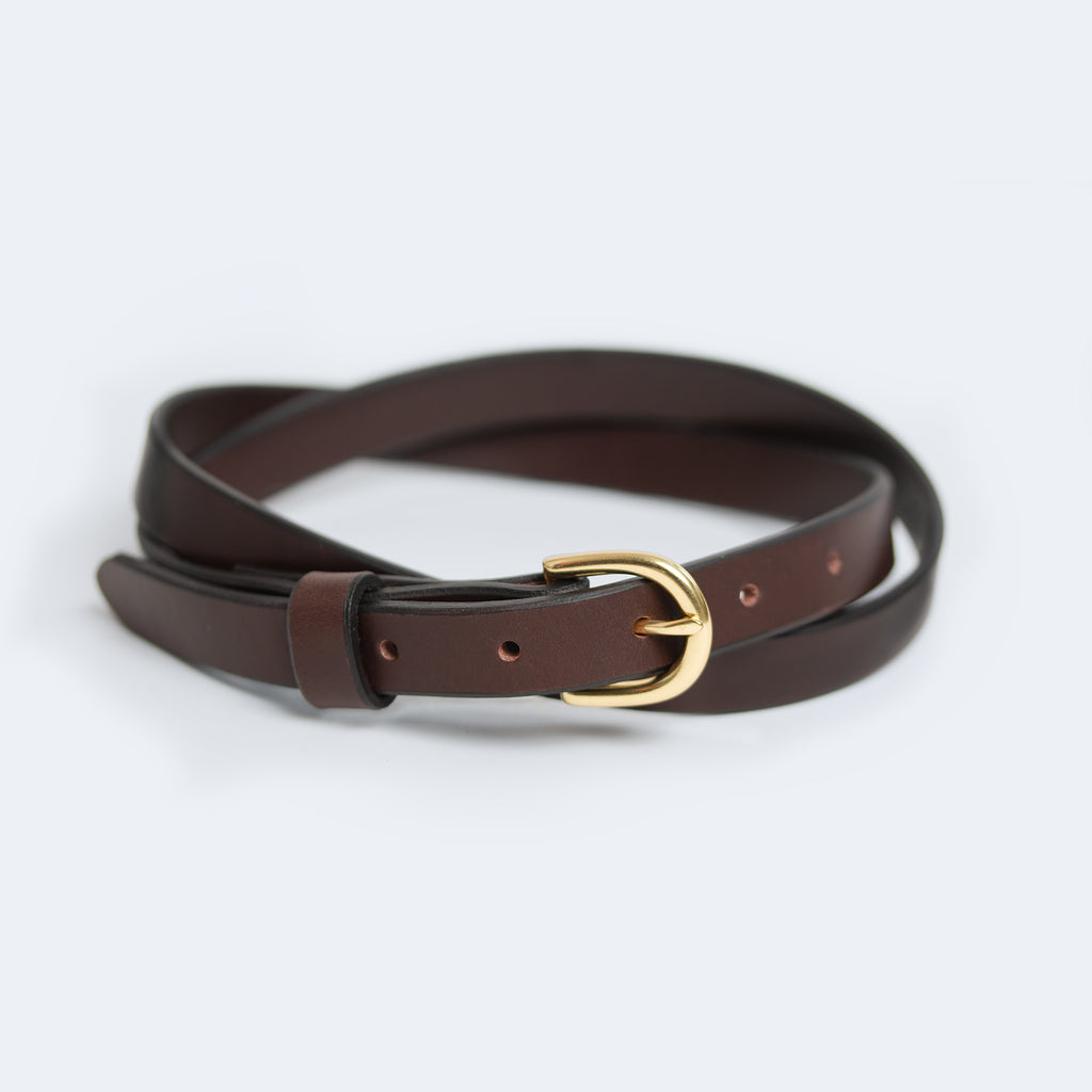 Skinny Belt - Dark Brown