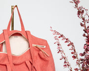 Linen Box Tote - Pink