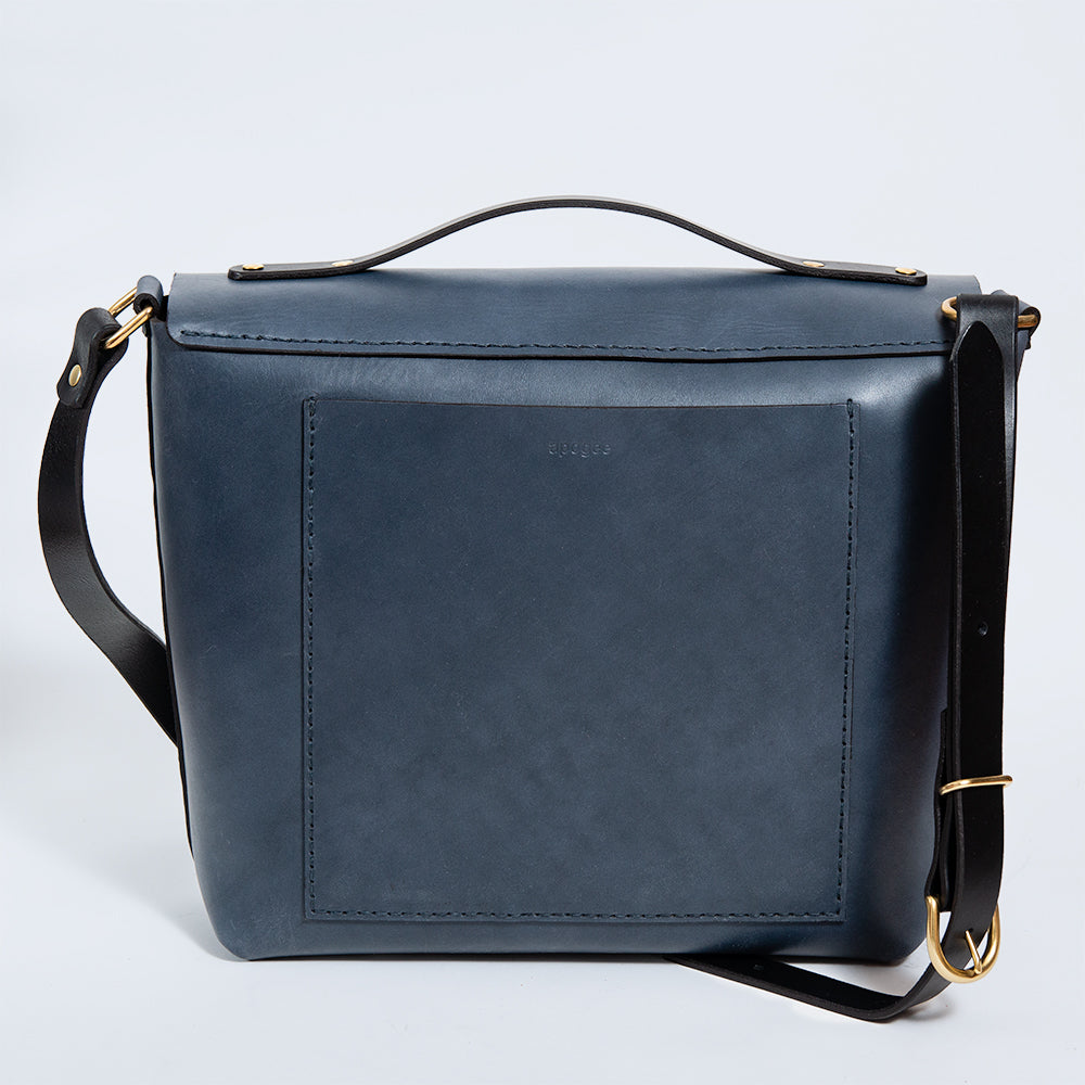 Messenger Bag - Steel Blue/Black