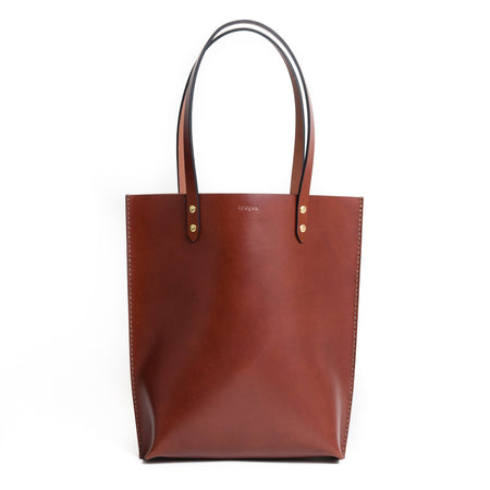 Structured Daily Tote - Chestnut - Apogee Goods