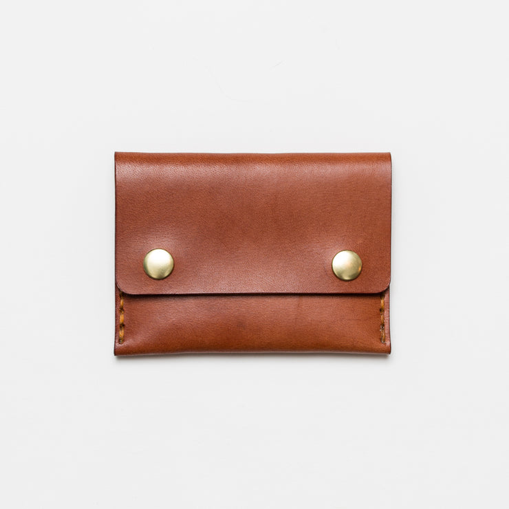 Short Double Snap Wallet - Teak