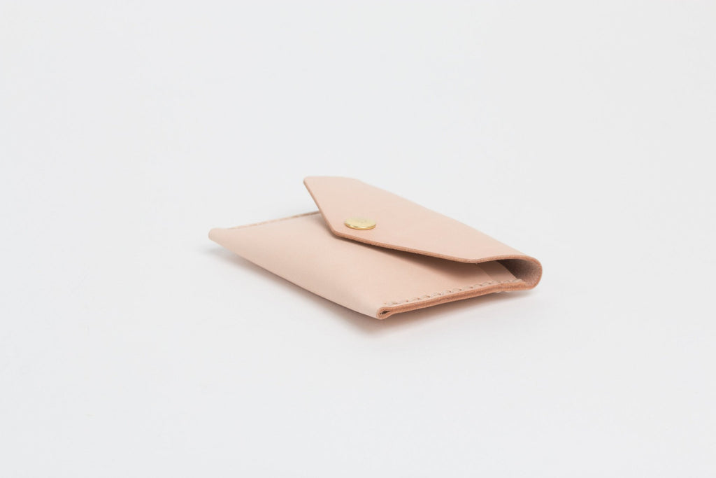 Unisex natural leather card wallet hand made in Toronto