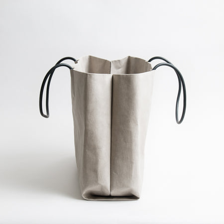 Washable Paper Tote - Grey/Black