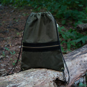 Drawcord Backpack - Waxed Olive