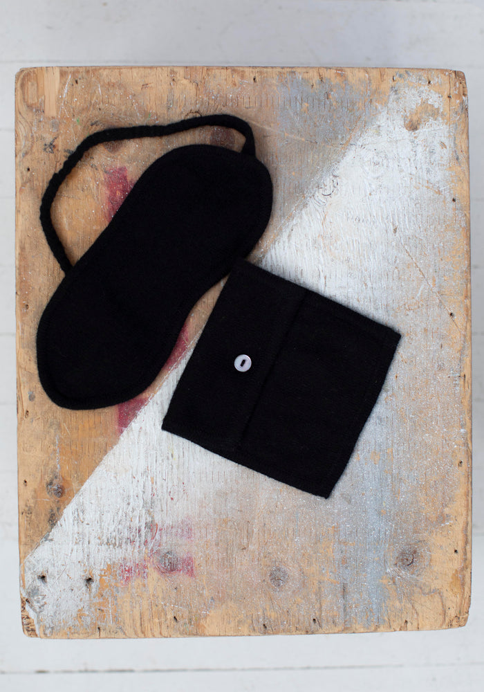 Cashmere Sleep Mask with Square Bag
