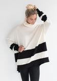 Cashmere Wide Stripe Boyfriend Sweater