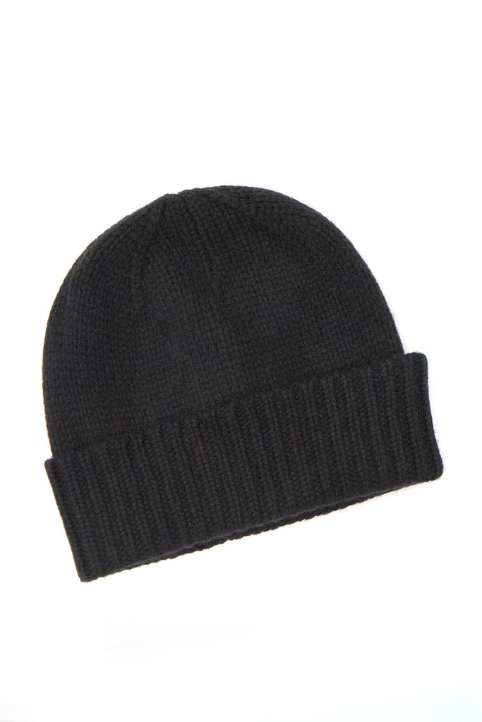 Cashmere Ribbed 10 Ply Hat for Men - 100% Mongolian Cashmere