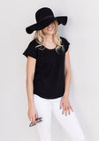 T Shirt in Black by Brodie - The Cashmere Shop Spring Collection