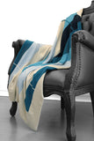 Easy on Plaid Blue Combo Cashmere Blanket
