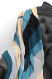 Easy on Plaid Blue Combo Cashmere Blanket - The Cashmere Shop  - 2