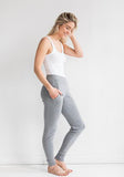 Cashmere Jogging Pants in Light Grey on Sale