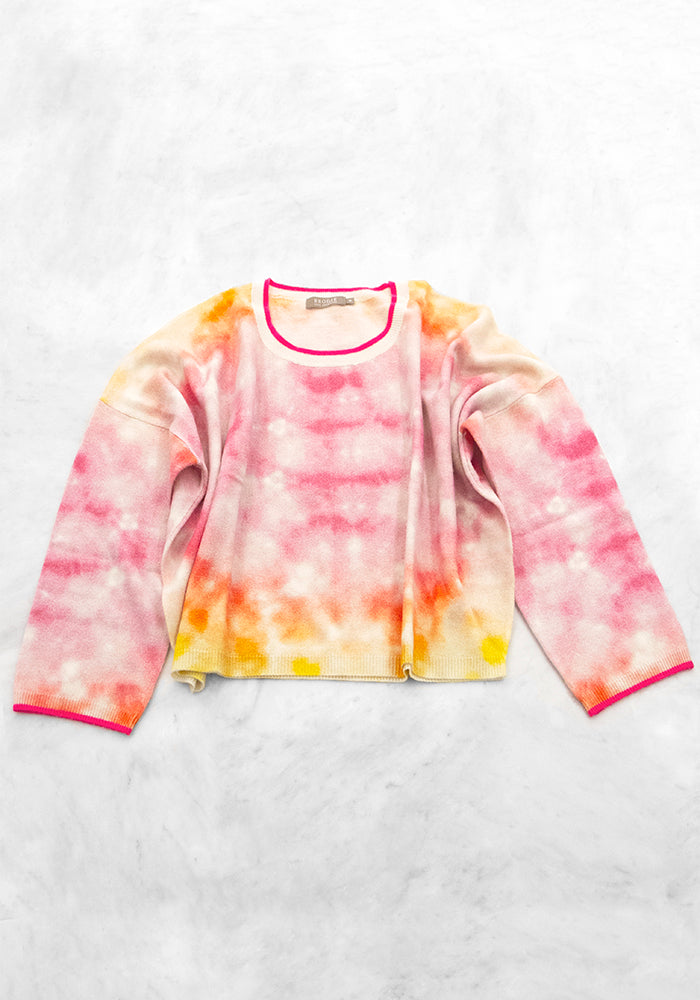 Chicago Tie Dye Sweater, O/S, Pink
