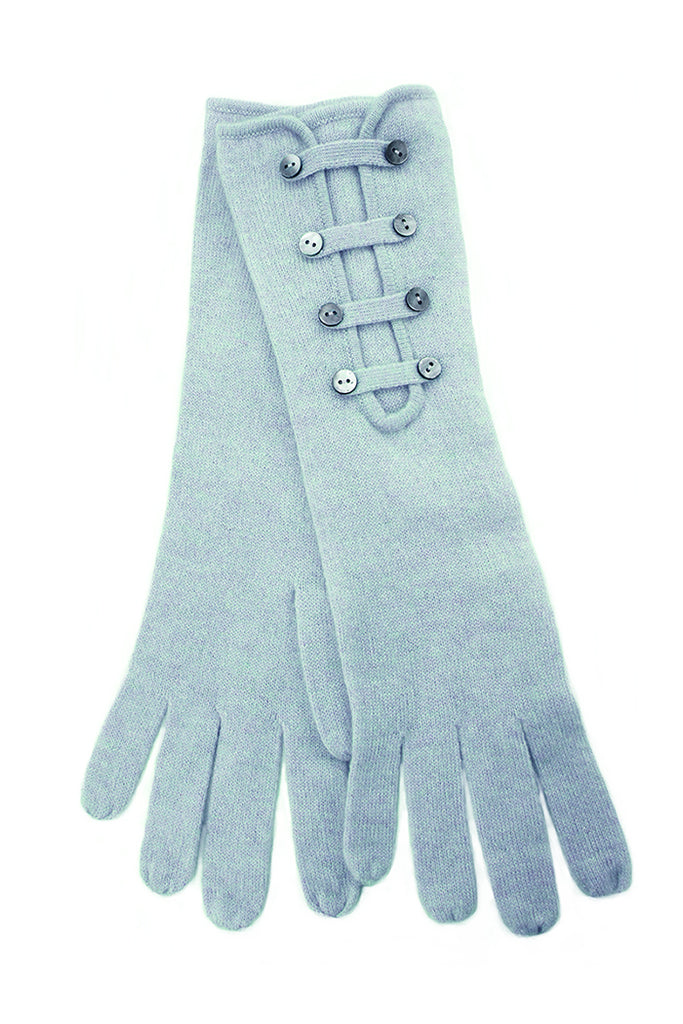 Cashmere Button Gloves