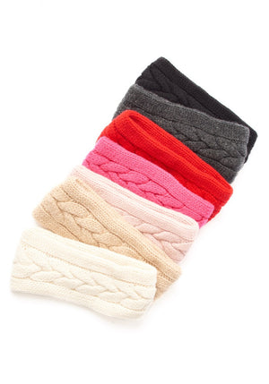 Cashmere Cable Head Band - The Cashmere Shop  - 2