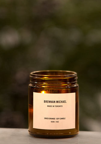 Brennan Michael Soy Candle ~ White Label