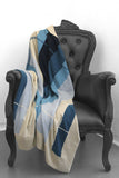 Easy on Plaid Blue Combo Cashmere Blanket - The Cashmere Shop  - 1