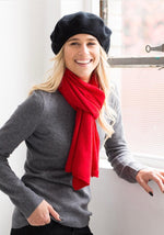 Cashmere Beret in Black