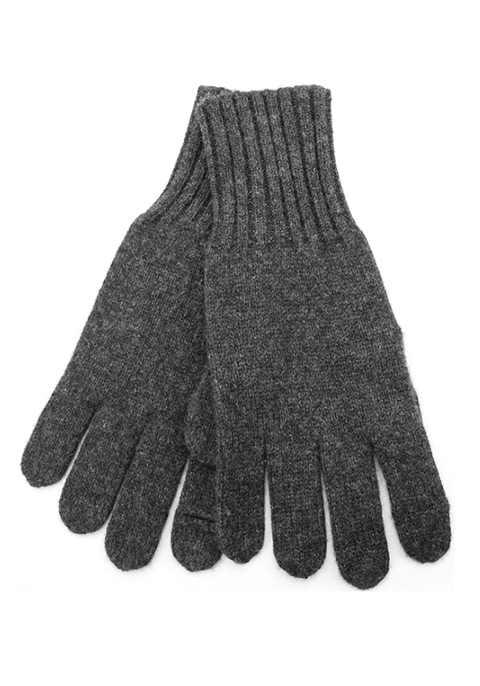 Mens Cashmere Texting Gloves Charcoal Grey