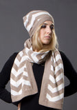 Cashmere Chevron Hat - The Cashmere Shop  - 2