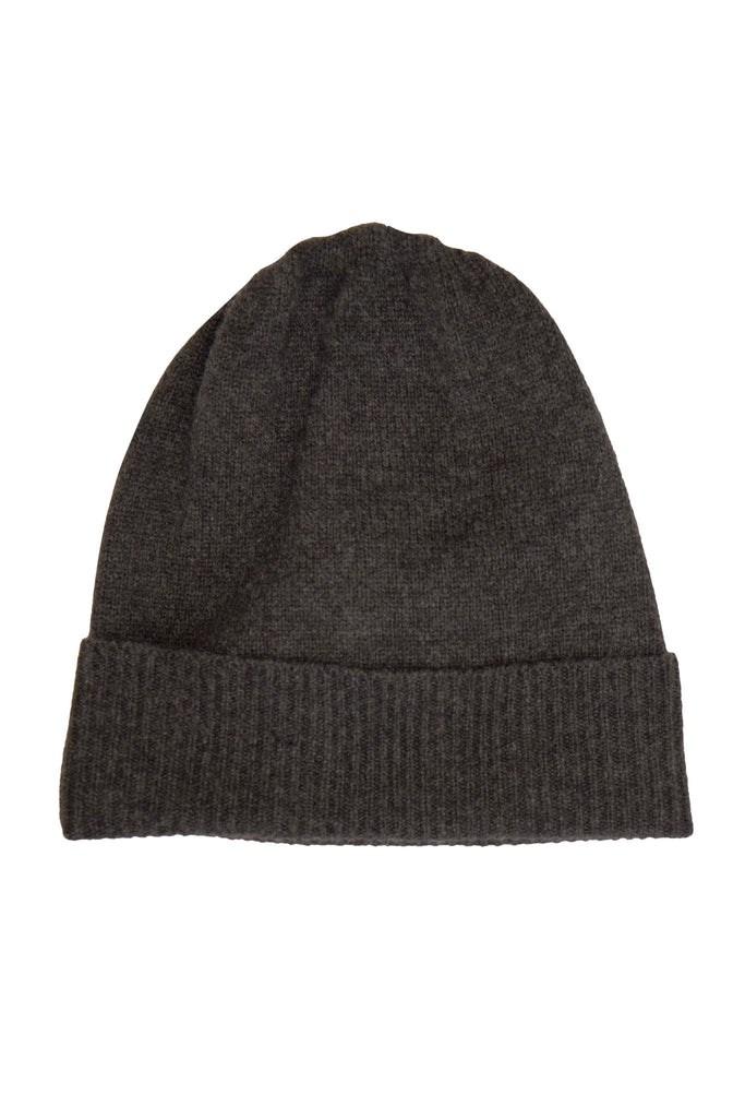 Classic Ribbed hat for Men - 100% Cashmere