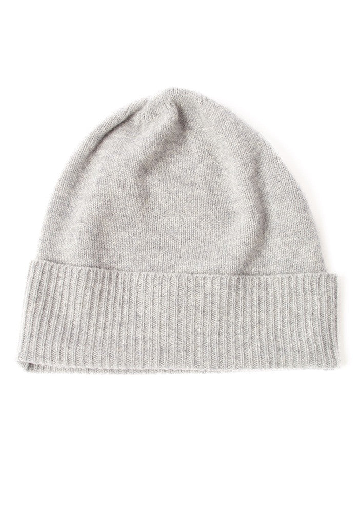 Classic Hat, 100% Cashmere in Light Grey - Winter Accessories