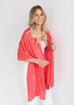 Everyday Classic Cashmere Wrap in Coral