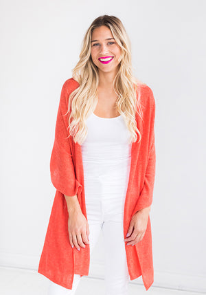 Classic Cashmere Knitted Wrap in Orange