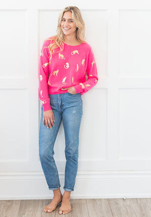 WILD THING SWEATER - NEON PINK